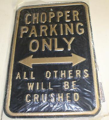 Motorcycle Chopper Parking Sign