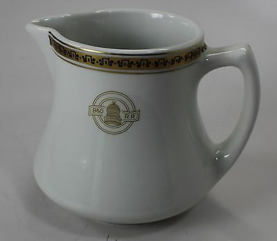 "Baltimore & Ohio Railroad ""capitol"" Pattern Medium Pitcher"