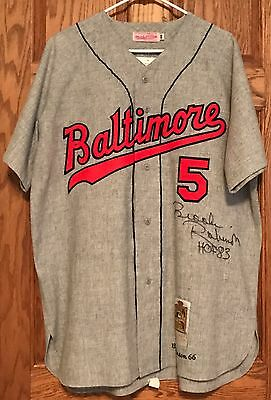 Brooks Robinson 1966 Baltimore Orioles Signed Mitchell and Ness Jersey COA