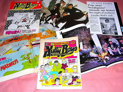 MADNESS - SET OF 3 ORIGINAL MIS COMICS FROM 1980s - SUGGS SPECIALS TWO 2 TONE