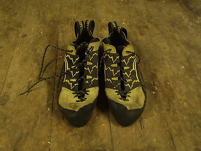 La Sportiva Yellow Katana Lace Up Climbing Shoe UK 9.5, 43.5 EU, Well Used