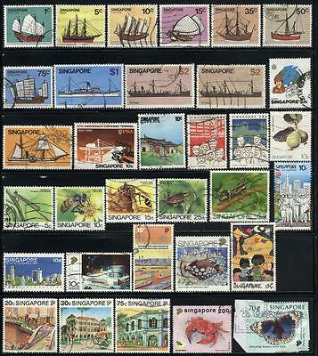Singapore - 82 mixed stamps - Years 1963 to 1999....