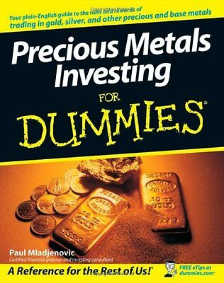 Precious Metals Investing For Dummies,PB,Paul Mladjenovic - NEW