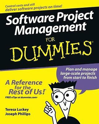 Software Project Management For Dummies,PB,Teresa Luckey - NEW