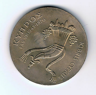 1970 Cyprus 500 mils coin : F.A.O