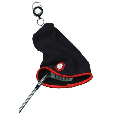 Black & Orange Eze Golf Club Towel - Putter Head Cover Golfing Accessory