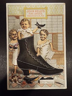 John Kelly's Fine Shoes Victorian Trade Card