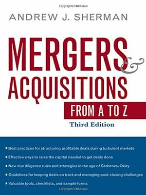 Mergers and Acquisitions from A to Z,HC,Andrew J. Sherman - NEW