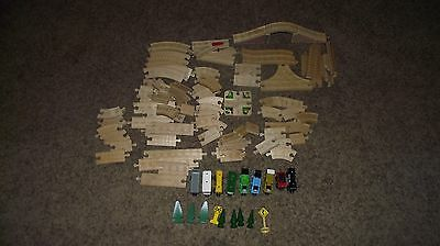 Thomas the tank Engine wooden track pieces and trains
