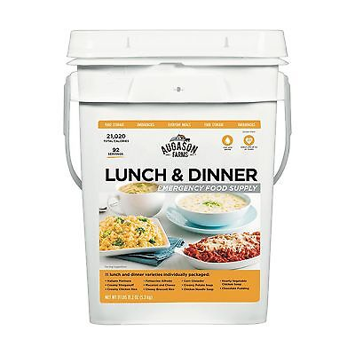 92 Meal LUNCH & DINNER Food Storage Emergency Supply Bucket Rations Kit Survival