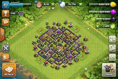 Clash Of Clans Account   Maxed Townhall 8   Level 83