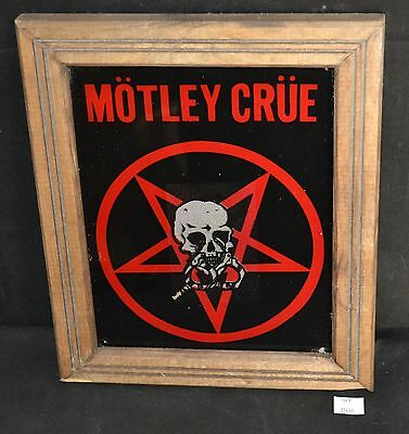 ThriftCHI ~ Motley Crue Glass Wall Hanging