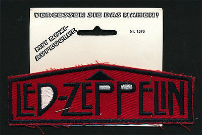 Led Zeppelin _RARE ORIGINAL 70's Germany Import vtg Iron On Patch - Unused red/b