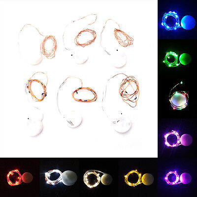 10 LEDs Battery Operated Mini LED Copper Wire String Fairy Lights 1M ChristmasMD