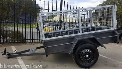 6x4 Medium Duty Single Axle Trailer with 2 ft Cage
