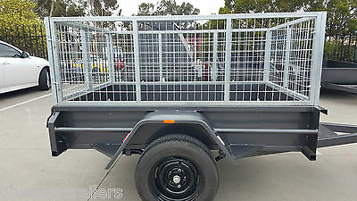6x4 HEAVY DUTY TRAILER WITH 3 FT CAGE