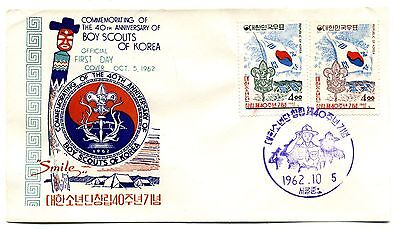 Korea 1962 Boy Scouts First Day Covers