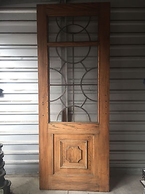 "Beautiful Vintage French Front Door with Leaded Glass 92""H x 36""W"