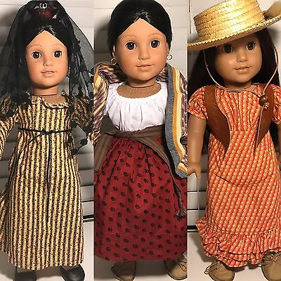 american girl Doll josephina With 2 Extra Outfits Valentines Day !!!!!