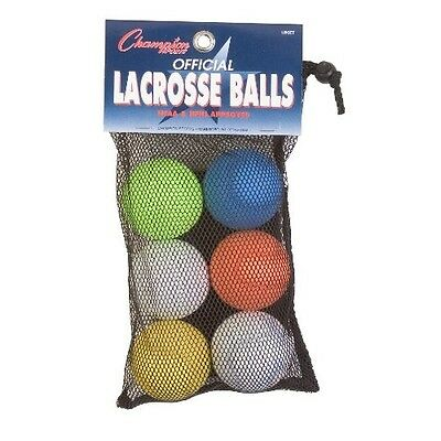 Official Lacrosse Ball Set Champion Sports Balls Nfhs Assorted Ncaa Mobility Stx