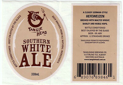 West. Australia. Tanglehead Brewery.  Southern White Ale.  Mint.