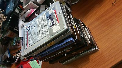 8 Hard drives, used, formatted.