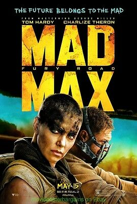 MAD MAX FURY ROAD MOVIE POSTER Double Sided 27x40 TOM HARDY George Miller Film