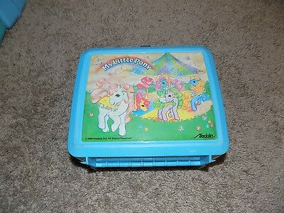 Vintage My Little Pony Teal Plastic Lunch Box No Thermos