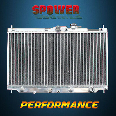 2-Row/CORE Aluminum Radiator For Honda Accord Prelude S VTEC L4 2.2L AT MT 92-96