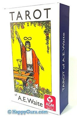 """Rider Waite Tarot Cards 78 Deck """"standard"""" With Booklet (Blue Pack)"""