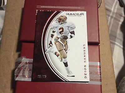 2016 Immaculate Deion Sanders Short Print 25/25 Card number 17