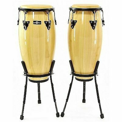 """Natal 10"""" & 11"""" Congas w/ Basket Stands Green"""