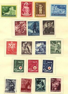 Croatia 1941-45 Collection Of 170 Mint & Used Includes Imperfs
