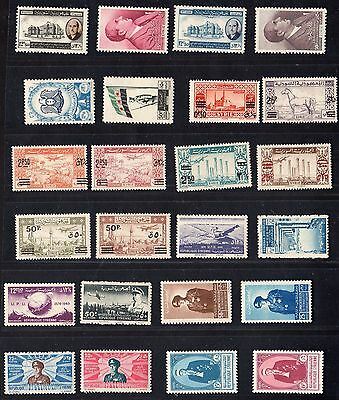 Syria 1948-9 Collection Of 24 Mint Including S.g. 473-478, 479-482 Light Hinge
