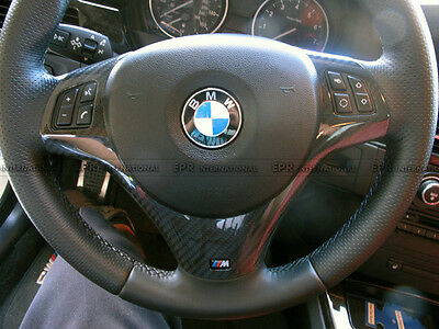 Pop Steering Wheel Panel Cover Interior Replacement For BMW E92 M3 Carbon Fiber