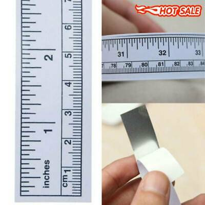 Self Adhesive Measure Tape Vinyl Silver Ruler Sewing Machine Sticker 90cm Hot