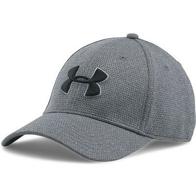 Under Armour Heather Blitzing Stretch Fit Cap Basecap Kappe steel 1283151-035