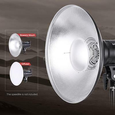 "16""Beauty Dish Reflector Diffuser Strobe Flash Speedlite Light Bowens Mount A3K2"