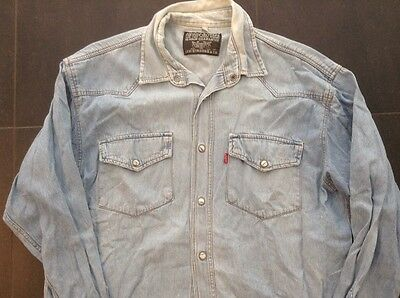 Levi's Camicia Vintage Camiseta Denim Jersey Jeans No Shirt Maillot Jacket