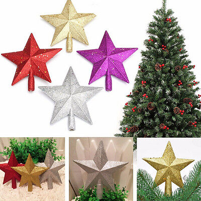 Sparkle 3D Star Design Christmas Tree Top Topper Decoration JXUK
