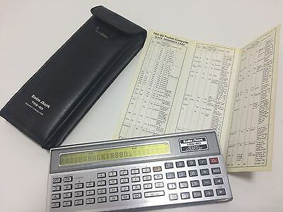 Vintage Radio Shack TRS-80 Pocket Computer Silver with sleeve c.1980's