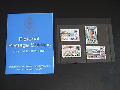 Jersey 1969 First Definitive Issue Presentation Pack (4 Stamps)