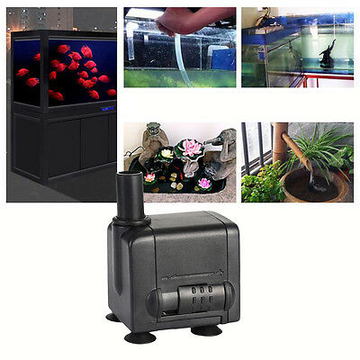 450LPH Submersible Pump Aquarium Pond Fish Tank Air Water Fountain Hydroponic