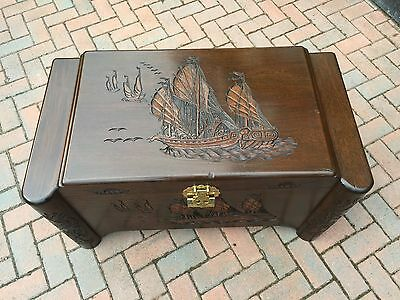 Camphor Wood Chest - With Tray & Makers Mark