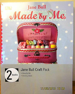~Children's Craft Books - Made By Me & Stitch By Stitch - Jane Bull -Gift - New~