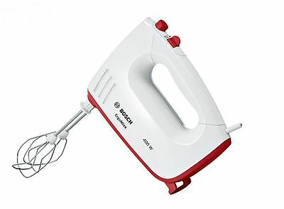 Bosch MFQ36300GB 400W Kitchen Hand Mixer With 5 Speed Settings in White/Red NEW