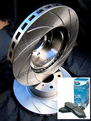 SLOTTED R-TYPE Ford TERRITORY Turbo FRONT Disc Brake Rotors & BENDIX BRAKE PADS