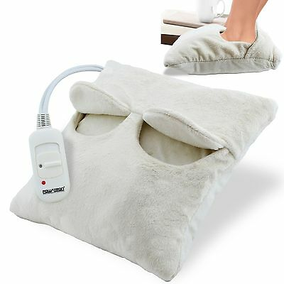 Electric Heated Comfort Fleece Suede Comfy Relaxing Foot Massager Warmer
