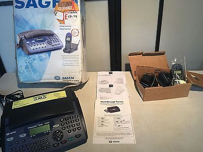 Sagem Telephone Phone Fax Answering Machine & SMS Text Facility & Email /Handset