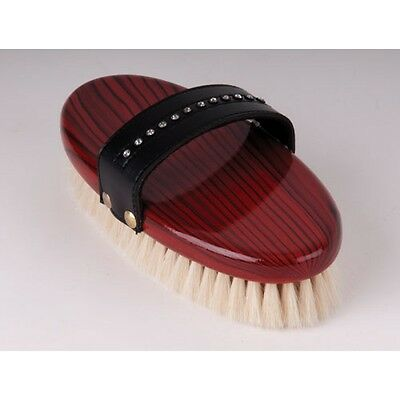 Rhinegold Crystal Body Brush Wooden Backed SUPER Soft Horse Pony Clipped